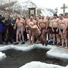 """фото """"купание в Иордани"""""""