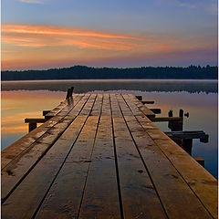 """photo """"The bridge in sunrise"""""""