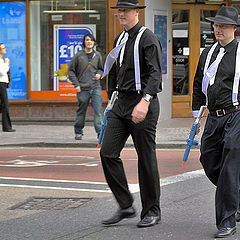 "photo ""Gangsters. From a series ""These strange British"""""