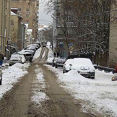 """фото """"московская улочка после снегопада"""""""