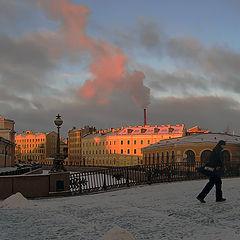 "photo ""Sunrise in Saint-Petersburg"""