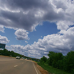 "фото ""По дороге с облаками ..."""