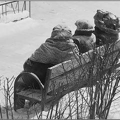"""фото """"Зима.Снег.Трое."""""""