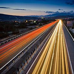 "фото ""Night motorway"""