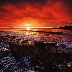 "фото ""Eveninglight on the beach"""