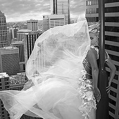 "photo ""photo glamur foto girl bride Skyscraper"""