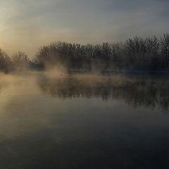 """фото """"Рассвет на странном озере"""""""