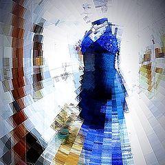 "photo ""in blue dress"""
