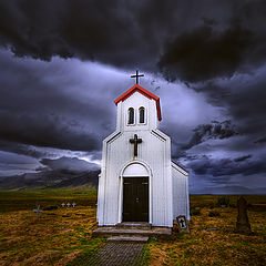 "photo ""Famely  Church on Iceland"""