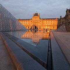 """photo """"Louvre in the evening"""""""