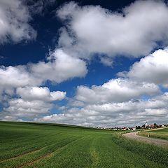 "photo ""A town under blue sky"""
