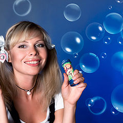 """фото """"Портрет с мыльными пузырями"""""""
