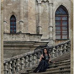 "photo ""on the steps of the castle"""