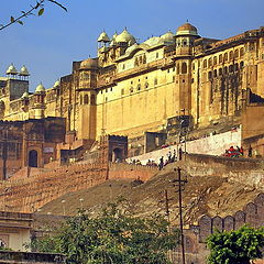 """фото """"Amber Fort возле Джампура, Индия ."""""""