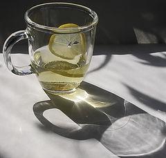 """фото """"Чашка зелёного чая с лимоном."""""""