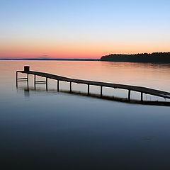 """фото """"Закат на озере"""""""