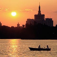 "фото ""Sunset on the lake"""