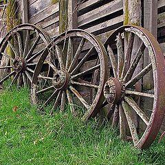 "photo ""The Old Wagon Wheels."""