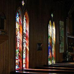 "photo ""Historic Church Interior."""