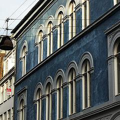"""photo """"Blue Facade"""""""