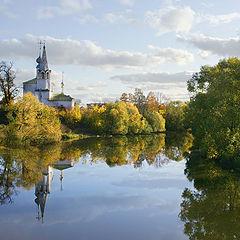 """фото """"Вид на Козьмодемьянскую церковь в Суздали"""""""