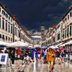 "photo ""The rain in the old town"""