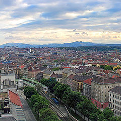 "photo ""over the roofs of Vienna"""