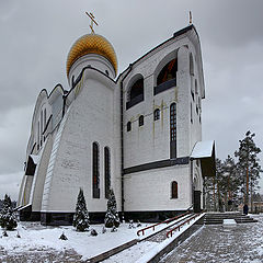 "photo ""Vladimir Apostolic Church in the city Udomlia"""