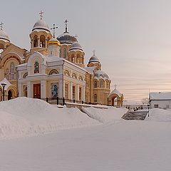 "photo ""Sunset in monastery. -30C!"""