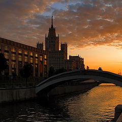 """photo """"Sunset over Yauzoy river."""""""