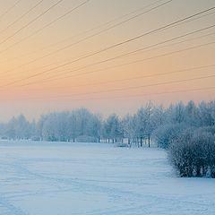 "фото ""Зима на закате"""