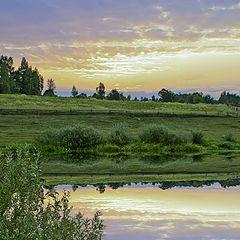 """фото """"восход над речкой Случ"""""""