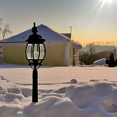 "photo ""Lantern and winter sunny day ..."""