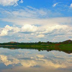 "фото ""Облака над терриконами"""
