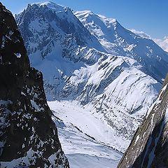 "photo ""Mont Blanc. Vallee Blanche. Shamonix"""