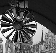 """фото """"Взгляд на ратушу. Мюнхен, Германия."""""""