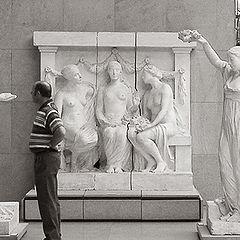 """photo """"Посетитель музея Орсе в Париже"""""""