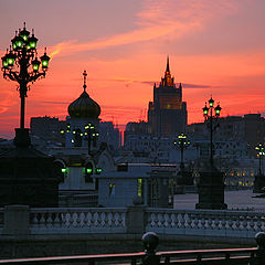"photo ""Spring sunsets over Moscow."""