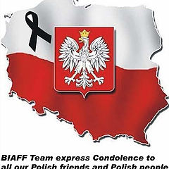 """photo """"BIAFF Team express Condolence to all our Polish friends and Polish people"""""""