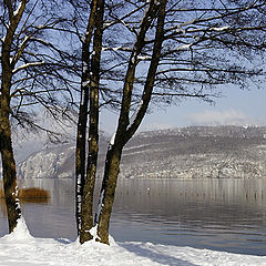 "photo ""Winter panoramic : Annecy Lake"""