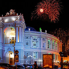 "photo ""Opera and fireworks"""