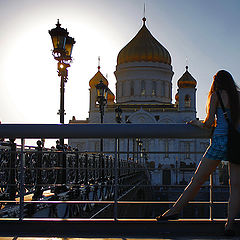 "photo ""The temple, the sun, light, girl ..."""