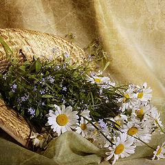 """фото """"Цветы в соломенной шляпе"""""""