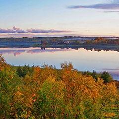 "фото ""Осень. Озеро. Зарница"""