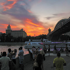 "photo ""Hot sunset in Moscow ...."""