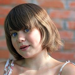 "фото ""Девочка с Зайчиком солнечным на кончике носа..."""