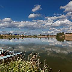 """фото """"Пейзаж с водным велосипедом"""""""