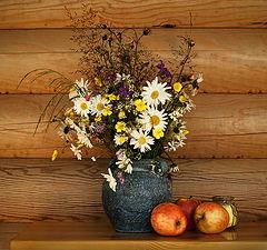 """фото """"полевые цветы и яблоки"""""""
