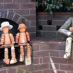 "photo ""The flowerpot men"""