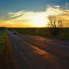 "фото ""Закат...Дорога домой..."""
